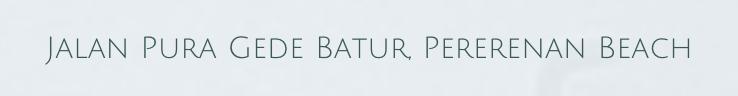 The address for Enigma Bali Villas