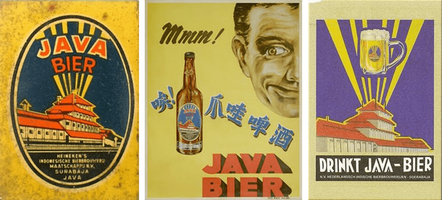 Advertisements of Java Bier.